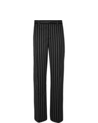 schwarze vertikal gestreifte Anzughose von Burberry