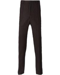 schwarze vertikal gestreifte Anzughose von Givenchy