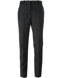 schwarze vertikal gestreifte Karottenhose von Givenchy