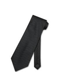 schwarze vertikal gestreifte Krawatte