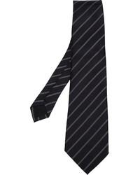 schwarze vertikal gestreifte Krawatte von Comme des Garcons
