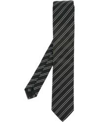 schwarze vertikal gestreifte Krawatte von Dolce & Gabbana