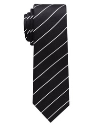 schwarze vertikal gestreifte Krawatte von Eterna