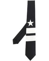 schwarze vertikal gestreifte Krawatte von Givenchy