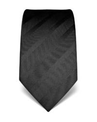 schwarze vertikal gestreifte Krawatte von Vincenzo Boretti