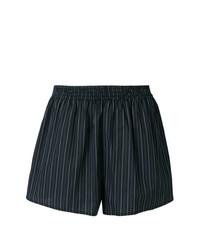 schwarze vertikal gestreifte Shorts von MM6 MAISON MARGIELA