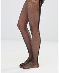 schwarze vertikal gestreifte Strumpfhose von Wolford