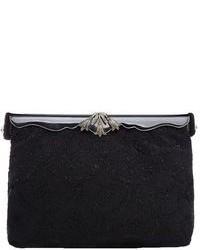 schwarze Perlen Clutch