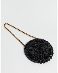 schwarze Perlen Clutch von Pimkie