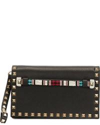 schwarze Perlen Clutch von Valentino