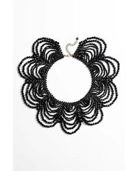 schwarze verziert mit Perlen Halskette