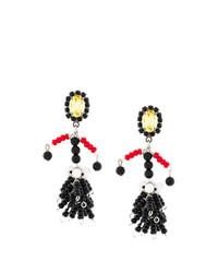 schwarze verziert mit Perlen Ohrringe von Marni