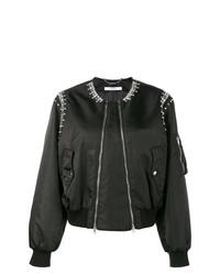 schwarze verzierte Bomberjacke von Givenchy