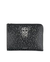 schwarze verzierte Clutch Handtasche von Alexander McQueen