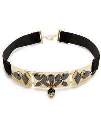 schwarze verzierte enge Halskette von Noir