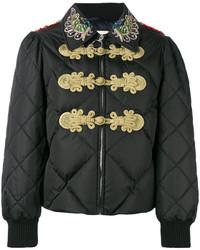 schwarze verzierte Jacke von Gucci