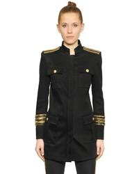 Schwarze verzierte Jacke von PIERRE BALMAIN