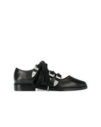 schwarze verzierte Leder Ballerinas von Toga Pulla