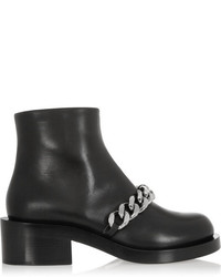 schwarze verzierte Leder Stiefeletten von Givenchy
