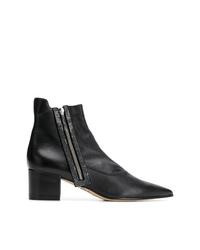 schwarze verzierte Leder Stiefeletten von Rodo