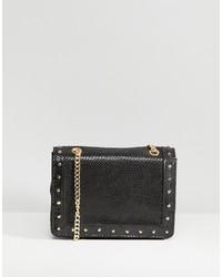schwarze verzierte Leder Umhängetasche von Carvela