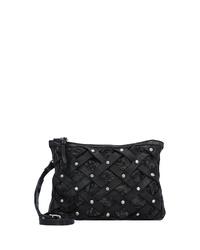 schwarze verzierte Leder Umhängetasche von Caterina Lucchi
