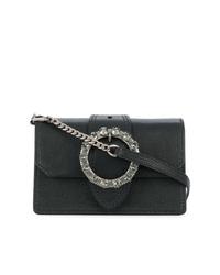 schwarze verzierte Leder Umhängetasche von Miu Miu