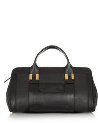 schwarze verzierte Lederhandtasche von Chloé