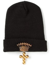 schwarze verzierte Mütze
