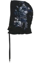 schwarze verzierte Mütze von No.21