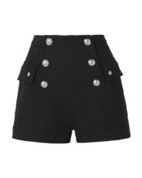 schwarze verzierte Shorts von Balmain