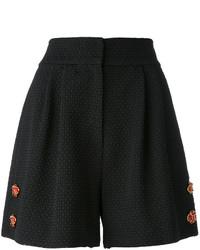 schwarze verzierte Shorts von Dolce & Gabbana