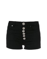 schwarze verzierte Shorts von Dondup