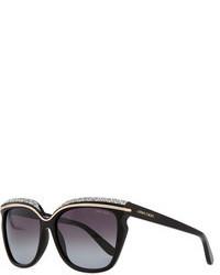 schwarze verzierte Sonnenbrille