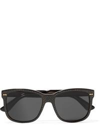 schwarze verzierte Sonnenbrille von Gucci