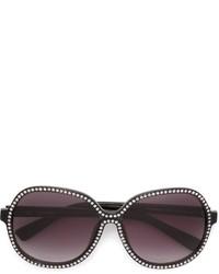 schwarze verzierte Sonnenbrille von Nina Ricci