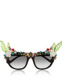 schwarze verzierte Sonnenbrille von Swarovski