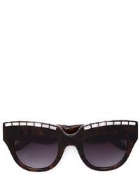 schwarze verzierte Sonnenbrille von Vera Wang