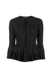 schwarze verzierte Strickjacke von Alexander McQueen