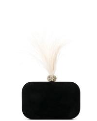 schwarze verzierte Wildleder Clutch von Jimmy Choo