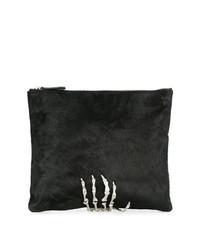 schwarze verzierte Wildleder Clutch von Mara & Mine