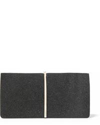 schwarze verzierte Wildleder Clutch von Nina Ricci