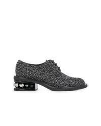 schwarze verzierte Wildleder Oxford Schuhe von Nicholas Kirkwood