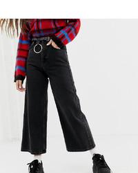 schwarze weite Hose aus Jeans von Reclaimed Vintage