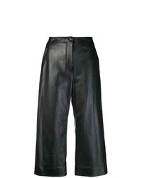 schwarze weite Hose aus Leder von Nehera