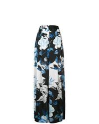 schwarze weite Hose mit Blumenmuster von Off-White
