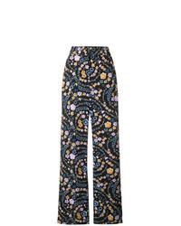 schwarze weite Hose mit Blumenmuster von See by Chloe
