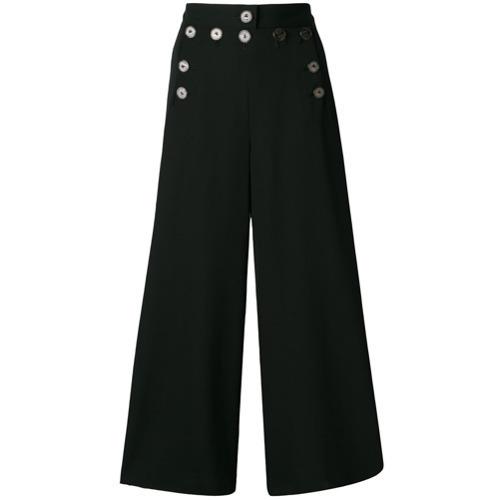 schwarze weite Hose von Jean Paul Gaultier Vintage