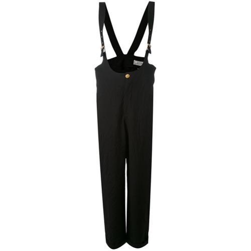 schwarze weite Hose von Versace Vintage