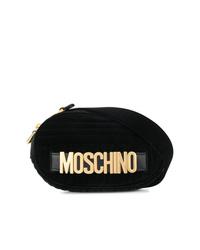 schwarze Wildleder Bauchtasche von Moschino